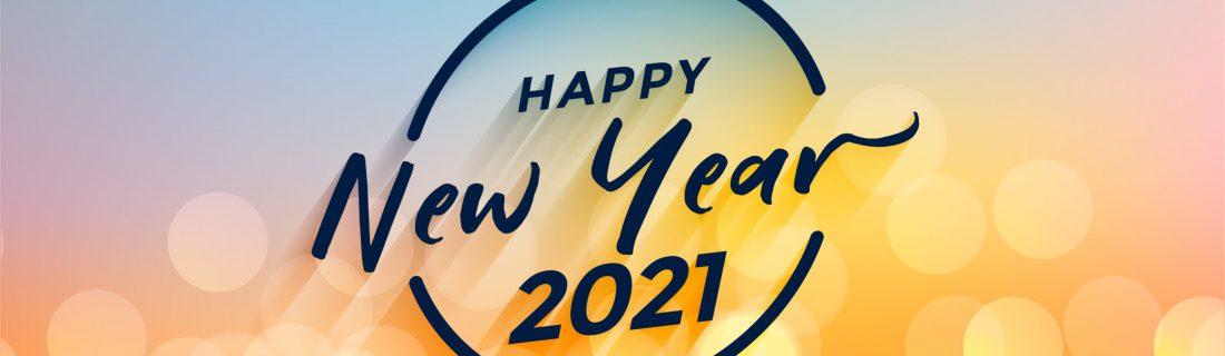 happy new year 2021 bokeh background nice design